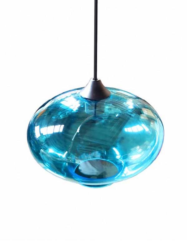 水藍色玻璃球吊燈