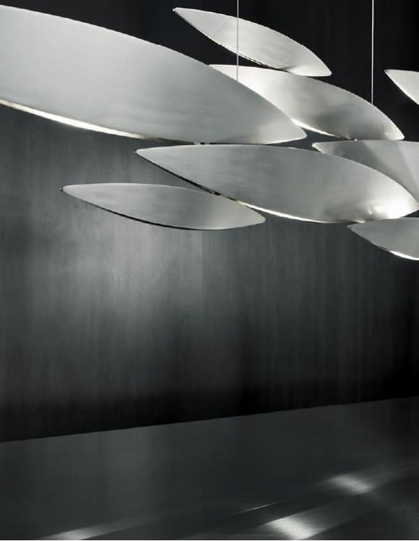 I Lucci Argentati,銀魚吊燈(XL)