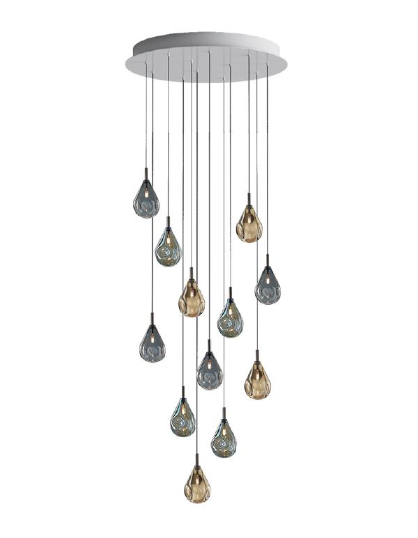 Soap mini chandelier 12 pcs