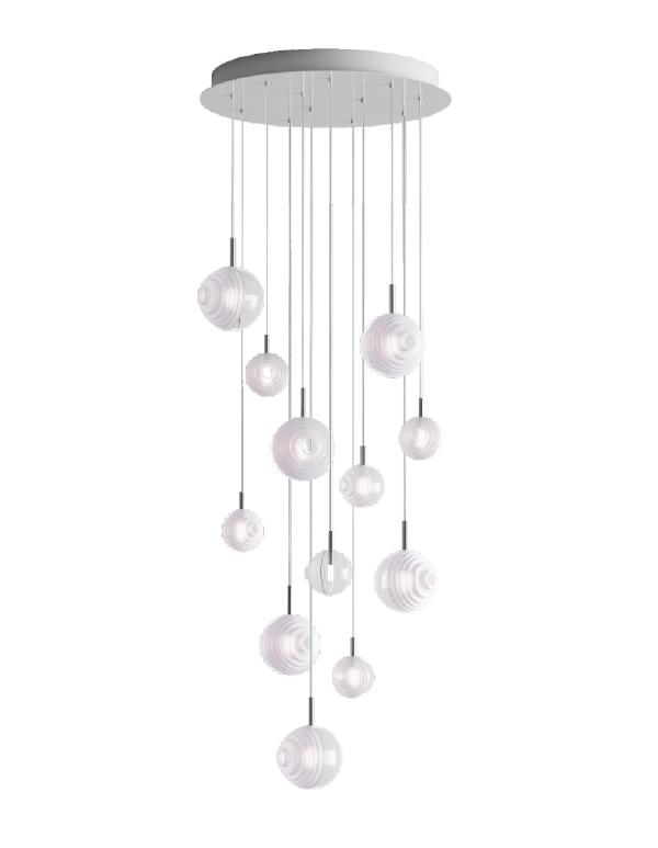 D&B Star chandelier 12 pcs