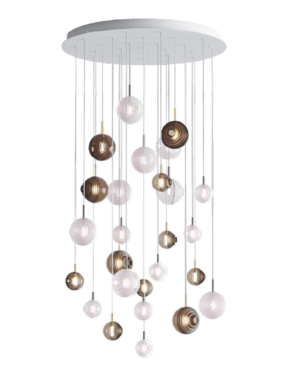 D&B Star chandelier 26 pcs