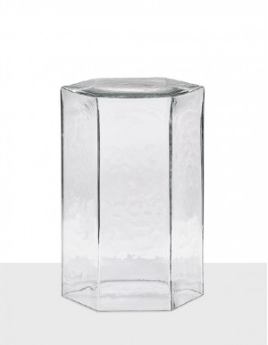 Hex large table clear