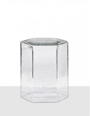 Hex medium table clear