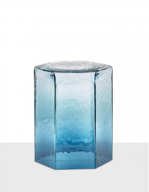 Hex medium table ocean blue