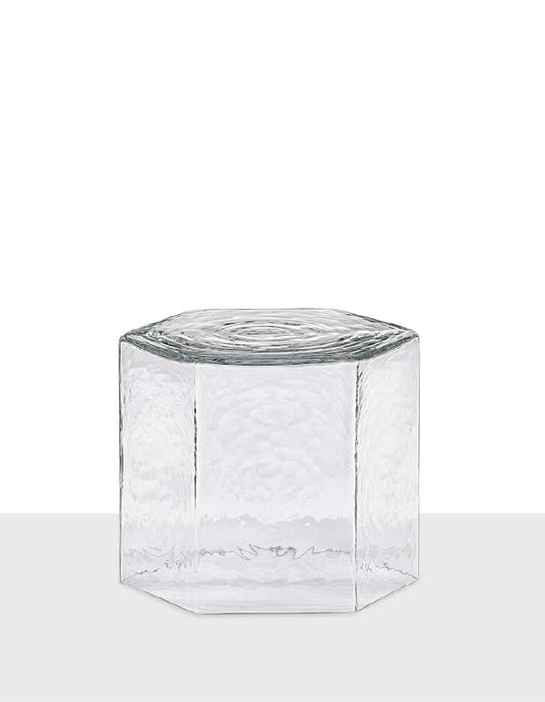 Hex small table clear