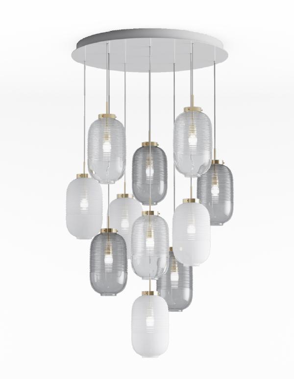Lantern chandelier 11 pcs