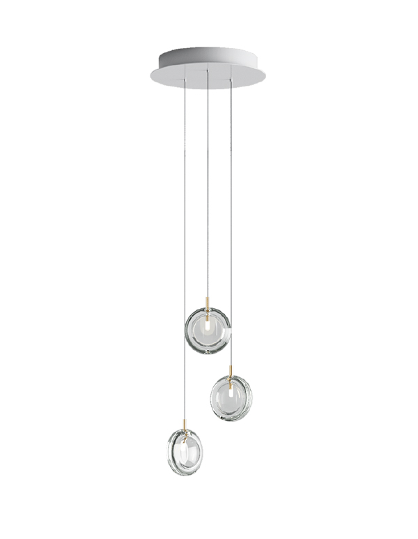 Lens chandelier 03 pcs