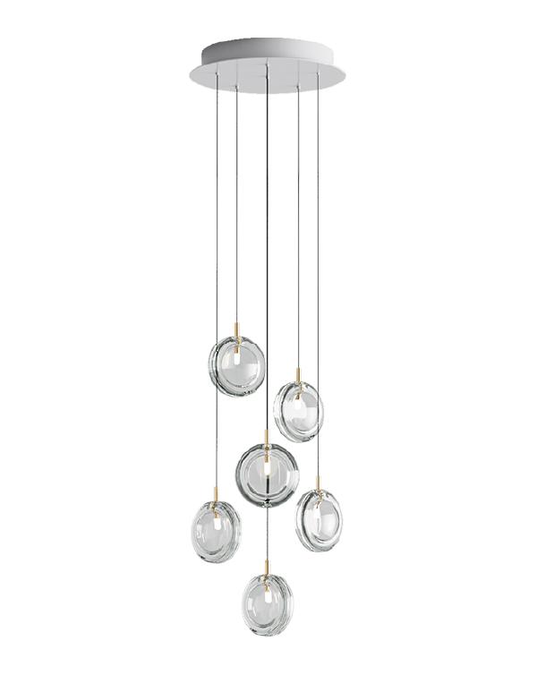 Lens chandelier 06 pcs
