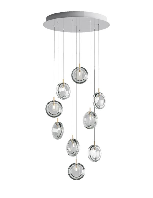 Lens chandelier 09 pcs