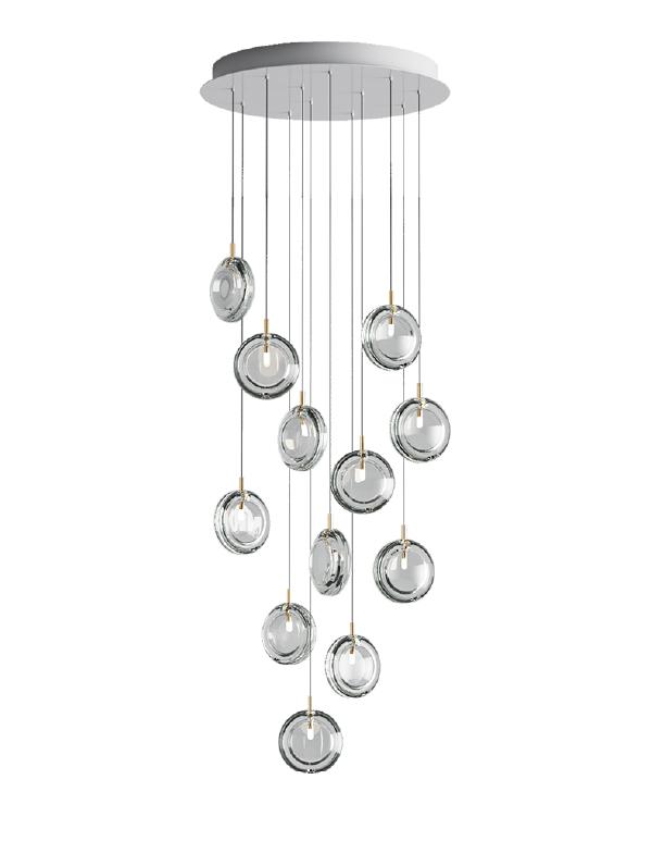 Lens chandelier 12 pcs