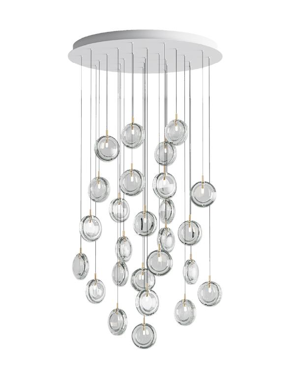 Lens chandelier 26 pcs