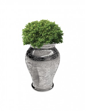 MING PLANTER AND CHAMPAGNE COOLER METAL FINISH
